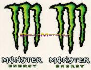 6253. Adesivo Monster Energy 4pz Standar 12x9,5 cm