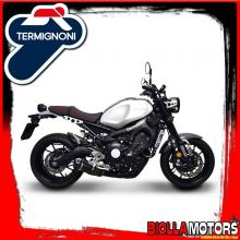 Y102090CVB EXHAUST FULL TERMIGNONI YAMAHA MT09 / XSR900 2014-2019 RELEVANCE INOX/CARBON