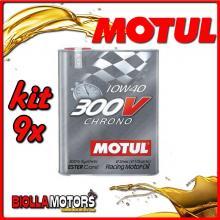 KIT 9X 2 LITRO OLIO MOTUL 300V CHRONO 10W40 100% SINTETICO PER AUTO - 9x 104243