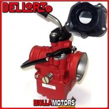 BR-61+09381 CARBURATORE DELLORTO VHST 28 BS + COLLETTORE DRITTO ROTAX 122