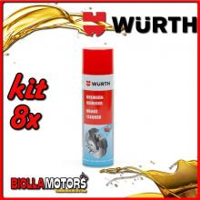 KIT 8x 500ML PULITORE PER FRENI SPRAY WURTH - 8x 0890117