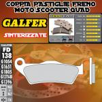 FD138G1370 PASTIGLIE FRENO GALFER SINTERIZZATE ANTERIORI FACTORY YR 250 98-