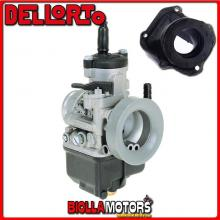 BR-53+04166 CARBURATORE DELLORTO PHBH 28 BD + COLLETTORE INCLINATO ROTAX 122
