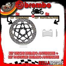 KIT-AIWY DISCO E PASTIGLIE BREMBO ANTERIORE MOTO GUZZI BREVA 850CC 2006- [GENUINE+FLOTTANTE] 78B40870+07BB1990