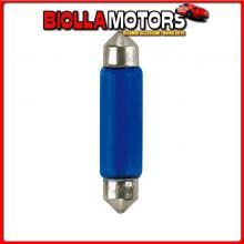 58310 PILOT 12V BLUE DYED GLASS, LAMPADA SILURO - 11X44 MM - 10W - SV8,5-8 - 2 PZ - D/BLISTER