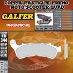 FD344G1054 PASTIGLIE FRENO GALFER ORGANICHE ANTERIORI SUZUKI UH 125 BURGMAN R 11-