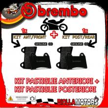 BRPADS-54470 KIT PASTIGLIE FRENO BREMBO ROYAL ENFIELD CONTINENTAL GT 2014- 535CC [GENUINE+GENUINE] ANT + POST