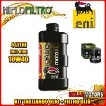 KIT TAGLIANDO 4LT OLIO ENI I-RIDE 10W40 SYNTHETIC TECH MOTO GUZZI 1100 California 1100CC 1994-1996 + FILTRO OLIO HF551