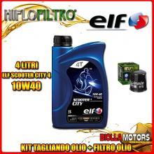 KIT TAGLIANDO 4LT OLIO ELF CITY 10W40 HONDA CB1000 FP,FR,FS,FT,FV BIG 1 SC30 1000CC 1993-1997 + FILTRO OLIO HF303