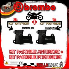 BRPADS-48443 KIT PASTIGLIE FRENO BREMBO SACHS ROADSTER 2000- 800CC [GENUINE+ORGANIC] ANT + POST