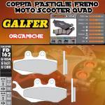 FD162G1054 PASTIGLIE FRENO GALFER ORGANICHE ANTERIORI PEUGEOT SATELIS 125 K15 COMPRESOR (AJP) 06-