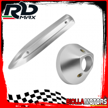 KIT PROTEZIONE MARMITTA YAMAHA MAJESTY 400 2007-2010 CROMO SATINATO (INTERASSE 310mm)
