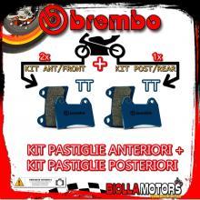 BRPADS-9563 KIT PASTIGLIE FRENO BREMBO RIEJU RRX SPIKE 2008- 50CC [TT+TT] ANT + POST