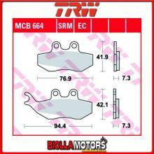MCB664EC PASTIGLIE FRENO ANTERIORE TRW Piaggio GTX 125 Super Hexagon 2000- [ORGANICA- EC]