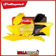 P90726 KIT PLASTICHE CARENE SUZUKI RMZ 450 2011- GIALLO/NERO POLISPORT