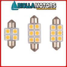 2161605 LAMPADINA SILURO LED 12V L40< Lampadine Siluro Power LED