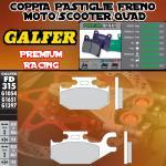 FD315G1651 PASTIGLIE FRENO GALFER PREMIUM POSTERIORI CANNONDALE CANNIBAL 440 IZQ. 02-