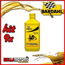 KIT 9X LITRO OLIO BARDAHL SCOOTER INJECTION E CARBURATORE LUBRIFICANTE PER SCOOTER 2T 1LT - 9x201041