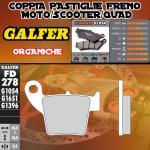 FD278G1054 PASTIGLIE FRENO GALFER ORGANICHE POSTERIORI HM DERAPAGE COMPETICION 09-10