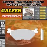 FD295G1371 PASTIGLIE FRENO GALFER SINTERIZZATE POSTERIORI SYM VOYAGER 250 05-