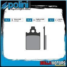 174.0025 PASTIGLIE FRENO POLINI ANTERIORE LML STAR 4T 125CC 2010- ORGANICA