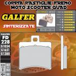 FD228G1380 PASTIGLIE FRENO GALFER SINTERIZZATE POSTERIORI APRILIA SR 50 RACING CATALIZADA 00-