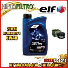 KIT TAGLIANDO 2LT OLIO ELF MAXI CITY 5W40 GILERA 500 Fuoco / LT 500CC 2007-2015 + FILTRO OLIO HF184