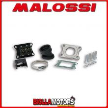 2013801 KIT COLLETTORE ASPIRAZIONE MALOSSI INCLINATO X360 MHR D. 28 - 35 MBK X-POWER 50 2T LC (MINARELLI AM 6) E LUNGHEZZA 27 IN