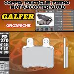 FD270G1054 PASTIGLIE FRENO GALFER ORGANICHE POSTERIORI PEUGEOT SATELIS 125 K15 COMPRESOR (NISSIN) 07-
