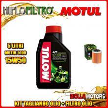 KIT TAGLIANDO 5LT OLIO MOTUL 5100 15W50 APRILIA ETV 1000 Caponord 1000CC 2001-2008 + FILTRO OLIO HF152