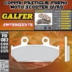 FD082G1370 PASTIGLIE FRENO GALFER SINTERIZZATE ANTERIORI KTM 125 RS 89-