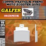 FD275G1054 PASTIGLIE FRENO GALFER ORGANICHE ANTERIORI SYM JOYMAX 300 i EVO 09-