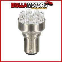 58376 PILOT 12V LAMPADA MULTI-LED 11 LED - (P21/5W) - BAY15D - 1 PZ - SCATOLA - ROSSO