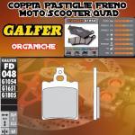 FD048G1054 PASTIGLIE FRENO GALFER ORGANICHE ANTERIORI MALANCA OB, ONC, 6M 83-