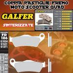 FD186G1371 PASTIGLIE FRENO GALFER SINTERIZZATE POSTERIORI APRILIA CAPONORD RAID 03-