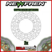2-DF4112AF COPPIA DISCHI FRENO ANTERIORE NEWFREN YAMAHA T MAX 500cc XP 2008-2011 FLOTTANTE