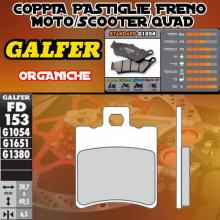 FD153G1050 PASTIGLIE FRENO GALFER ORGANICHE ANTERIORI HYOSUNG EXCEED 125 03-