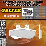 FD133G1054 PASTIGLIE FRENO GALFER ORGANICHE ANTERIORI PEUGEOT XR 6 05-