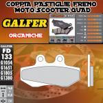 FD133G1054 PASTIGLIE FRENO GALFER ORGANICHE ANTERIORI TOMOS 125 SE 04-