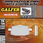 FD136G1054 PASTIGLIE FRENO GALFER ORGANICHE ANTERIORI VILLA 50 AX 93-