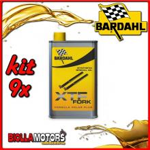 KIT 9X 500ML OLIO BARDAHL XTF FORK SYNTHETIC OIL OLIO FORCELLA 1/2 LT - 9x 445032