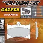 FD085G1054 PASTIGLIE FRENO GALFER ORGANICHE ANTERIORI GILERA 125 SP01 89-89