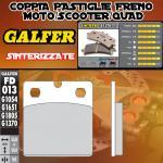 FD013G1370 PASTIGLIE FRENO GALFER SINTERIZZATE ANTERIORI S.W.M. 350 XP SAHARA 86-