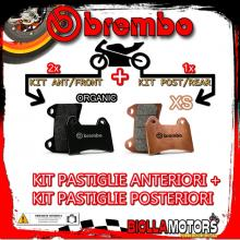 BRPADS-1143 KIT PASTIGLIE FRENO BREMBO PIAGGIO MP3 IE 2008- 125CC [ORGANIC+XS] ANT + POST