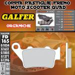 FD165G1054 PASTIGLIE FRENO GALFER ORGANICHE POSTERIORI TM 400 4T E/CROSS 00-02