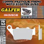 FD165G1054 PASTIGLIE FRENO GALFER ORGANICHE POSTERIORI FACTORY YR 250 98-