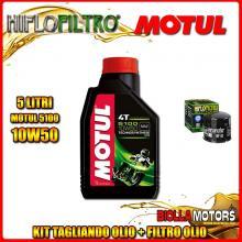 KIT TAGLIANDO 5LT OLIO MOTUL 5100 10W50 DUCATI 1200 Monster R 1200CC 2016- + FILTRO OLIO HF153