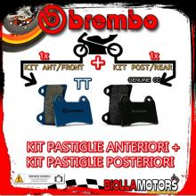 BRPADS-60098 KIT PASTIGLIE FRENO BREMBO SWM RS R 2016- 125CC [TT+GENUINE] ANT + POST