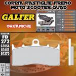 FD272G1054 PASTIGLIE FRENO GALFER ORGANICHE ANTERIORI KAWASAKI ZRX 400 / II 01-