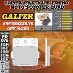 FD076G1397 PASTIGLIE FRENO GALFER SINTERIZZATE POSTERIORI HUSQVARNA 360 WR 92-94